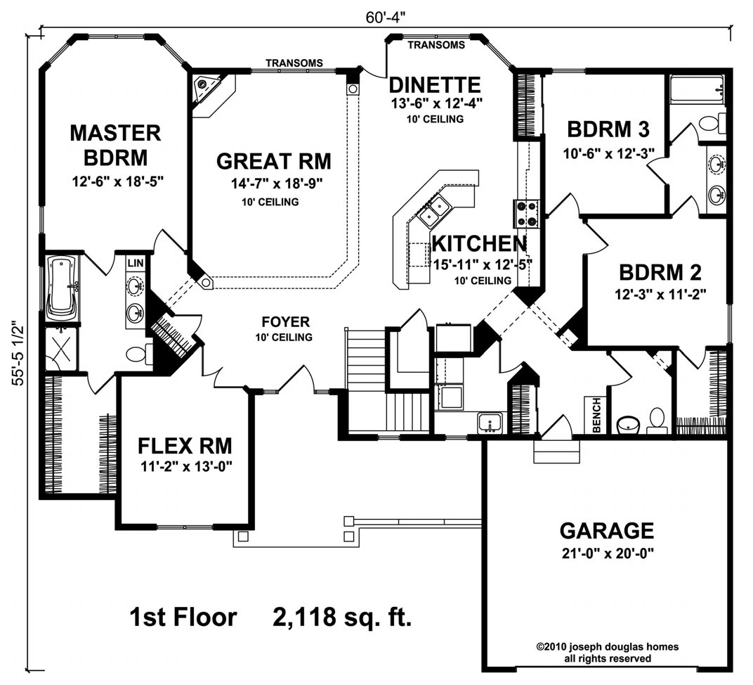 Joseph douglas homes 2118 bristol for Home plans with jack and jill bathroom
