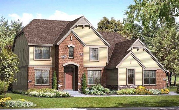 Kingsbury two story home design, Joseph Douglas Homes, Milwauke and Waukesha, WI