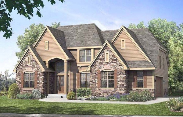 Joseph douglas homes 2668 stanton for Pretty two story houses
