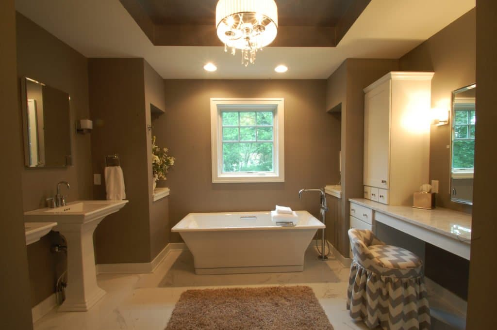 newly renovated bathroom by joseph douglas homes